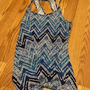 Old navy blue tank top